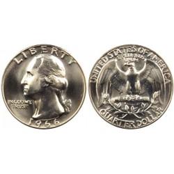 سکه 25 سنت - کوارتر - نیکل مس - تصویر جرج واشنگتن - آمریکا 1966 غیر بانکی
