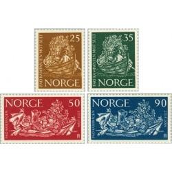 4 عدد تمبر نجات از گرسنگی  - نروژ 1963