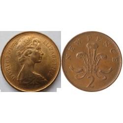 سکه 2 پنس - برنز - انگلیس 1977 غیر بانکی