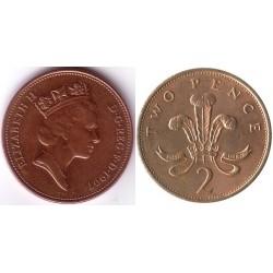 سکه 2 پنس - برنز - انگلیس 1997 غیر بانکی