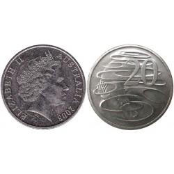 سکه 20 سنت نیکل مس - استرالیا 2008 غیر بانکی