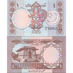 اسکناس 1 روپیه - پاکستان 1983 امضا حبیب الله بیگ - امضا ضخیم