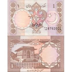 اسکناس 1 روپیه - پاکستان 1983 امضا قاضی علیم الله عارفی