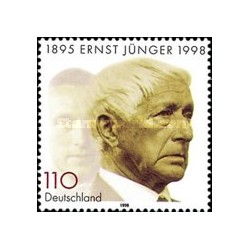 1 عدد تمبر یادبود ارنست جانگر - نویسنده - جمهوری فدرال آلمان 1998