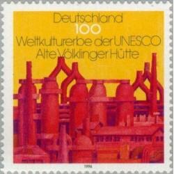 1 عدد تمبر میراث طبیعت و فرهنگ بشر - جمهوری فدرال آلمان 1996