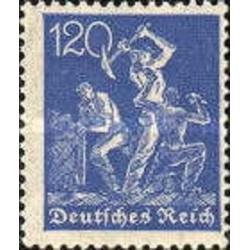 1 عدد تمبر سری پستی - 120 مارک - رایش آلمان 1921 با شارنیه