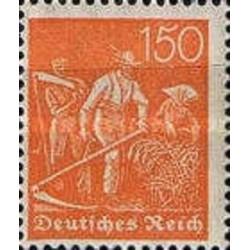1 عدد تمبر سری پستی - 150 مارک - رایش آلمان 1921