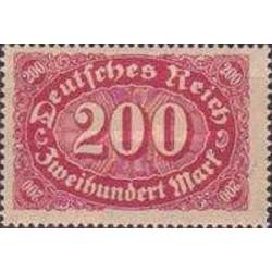 1 عدد تمبر سری پستی - 200 مارک - رایش آلمان 1922 با شارنیه