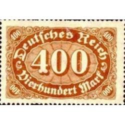 1 عدد تمبر سری پستی - 400 مارک - رایش آلمان 1922 با شارنیه