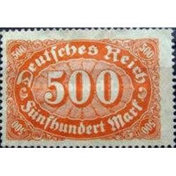 1 عدد تمبر سری پستی - 500 مارک - رایش آلمان 1922 با شارنیه