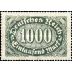 1 عدد تمبر سری پستی - 1000 مارک - رایش آلمان 1922 با شارنیه