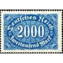 1 عدد تمبر سری پستی - 2000 مارک - رایش آلمان 1922 با شارنیه