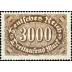 1 عدد تمبر سری پستی - 3000 مارک - رایش آلمان 1922 با شارنیه