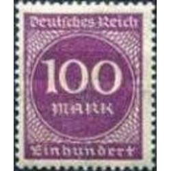1 عدد تمبر سری پستی - 100 مارک - رایش آلمان 1923 با شارنیه