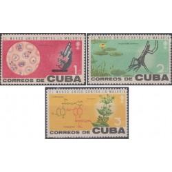 3 عدد تمبر ریشه کنی مالاریا - کوبا 1962
