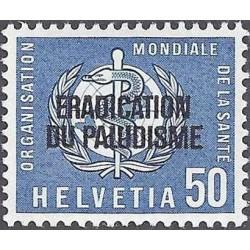 1 عدد تمبر ریشه کنی مالاریا - سوئیس 1962