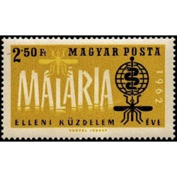 1 عدد تمبر ریشه کنی مالاریا - مجارستان 1962