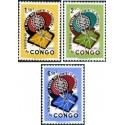 3 عدد تمبر ریشه کنی مالاریا  - جمهوری دموکراتیک کنگو 1962