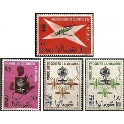 4 عدد تمبر ریشه کنی مالاریا  - سومالی 1962