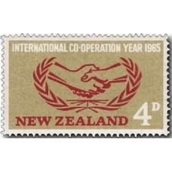 1 عدد تمبر سال همکاری بین المللی - نیوزلند 1965