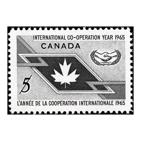 1 عدد تمبر سال همکاری بین المللی - کانادا 1965