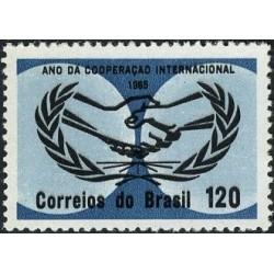 1 عدد تمبر سال همکاری بین المللی - برزیل 1965