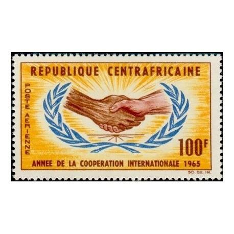 1 عدد تمبر سال همکاری بین المللی - آفریقای مرکزی 1965