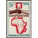 1 عدد تمبر سال همکاری بین المللی - ولتای علیا 1964