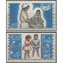 2 عدد تمبر سال همکاری بین المللی - ماداگاسکار 1965