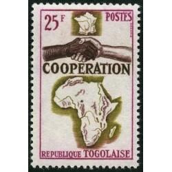 1 عدد تمبر سال همکاری بین المللی - توگو 1964