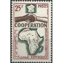 1 عدد تمبر سال همکاری بین المللی - موریتانی 1964