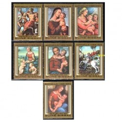 7 ع تمبر تابلو نقاشی اثر رافائل - گینه بیسائو 1983