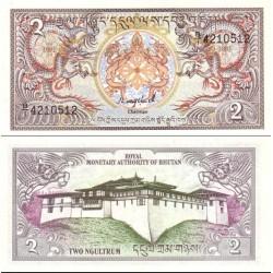 اسکناس 2 نگولتروم - بوتان 1986