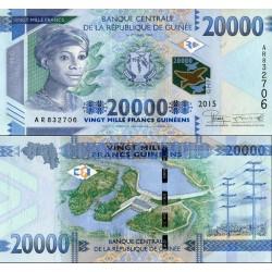اسکناس 20000 فرانک - گینه 2015