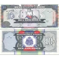 اسکناس 10 گوردس - هائیتی 2000 تک