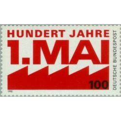 1 عدد تمبر صدمین سالگرد جشن یکم می - جمهوری فدرال آلمان 1990