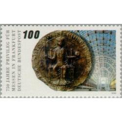 1 عدد تمبر 750مین سال امتیاز نمایشگاه فرانکفورت - جمهوری فدرال آلمان 1990
