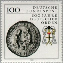 1 عدد تمبر 800مین سال نظام آلمان - جمهوری فدرال آلمان 1990
