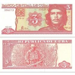 اسکناس 3 پزو - کوبا 2005 با تصویر چه گوارا