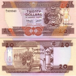 اسکناس 20 دلار - جزایر سلیمان 1986