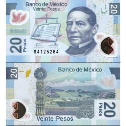 اسکناس پلیمر 20 پزو - مکزیک 2013 سری X