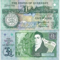 اسکناس 1 پوند - یادبود دویستمن سالروز اولین ریسک تجاری توماس دلا رو -  گورنزی 2013
