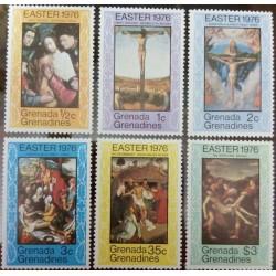6 عدد تمبر عید پاک - تابلوهای نقاشی  - گرندین گرانادا 1976