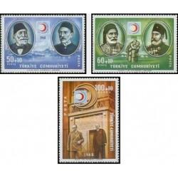 3 عدد تمبر صندوق هلال احمر ترکیه - ترکیه 1968