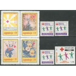8 عدد تمبر خیریه - هفته صلیب سرخ  - یوگوسلاوی 1991