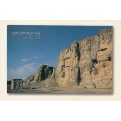 کارت پستال - ایرانی- چشم انداز ایران - فارس - کتیبه های هخامنشی
