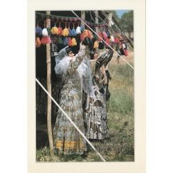 کارت پستال - ایرانی- چشم انداز ایران - زنان بختیاری