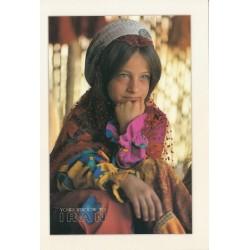 کارت پستال - ایرانی- چشم انداز ایران - دختر ایل قشقائی
