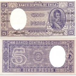 اسکناس 5 پزو - نیم کندر - شیلی 1958