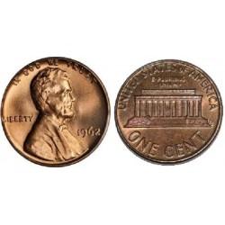 سکه 1 سنت - برنجی - آمریکا 1962غیر بانکی